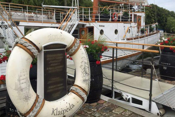 Segelschiff Meridianas in Klaipeda, Litauen