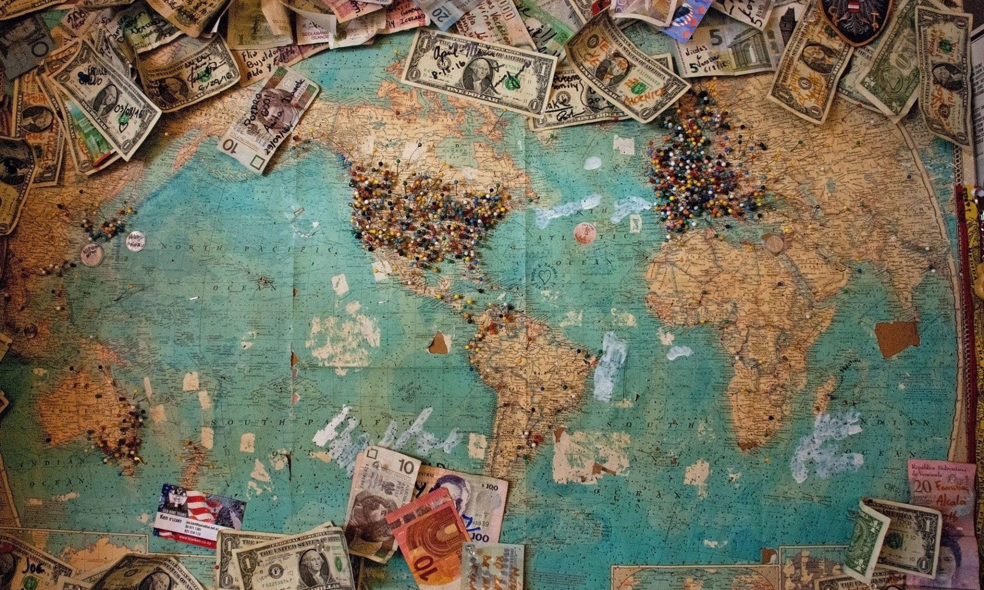 Kreditkarte und Geld weltweit