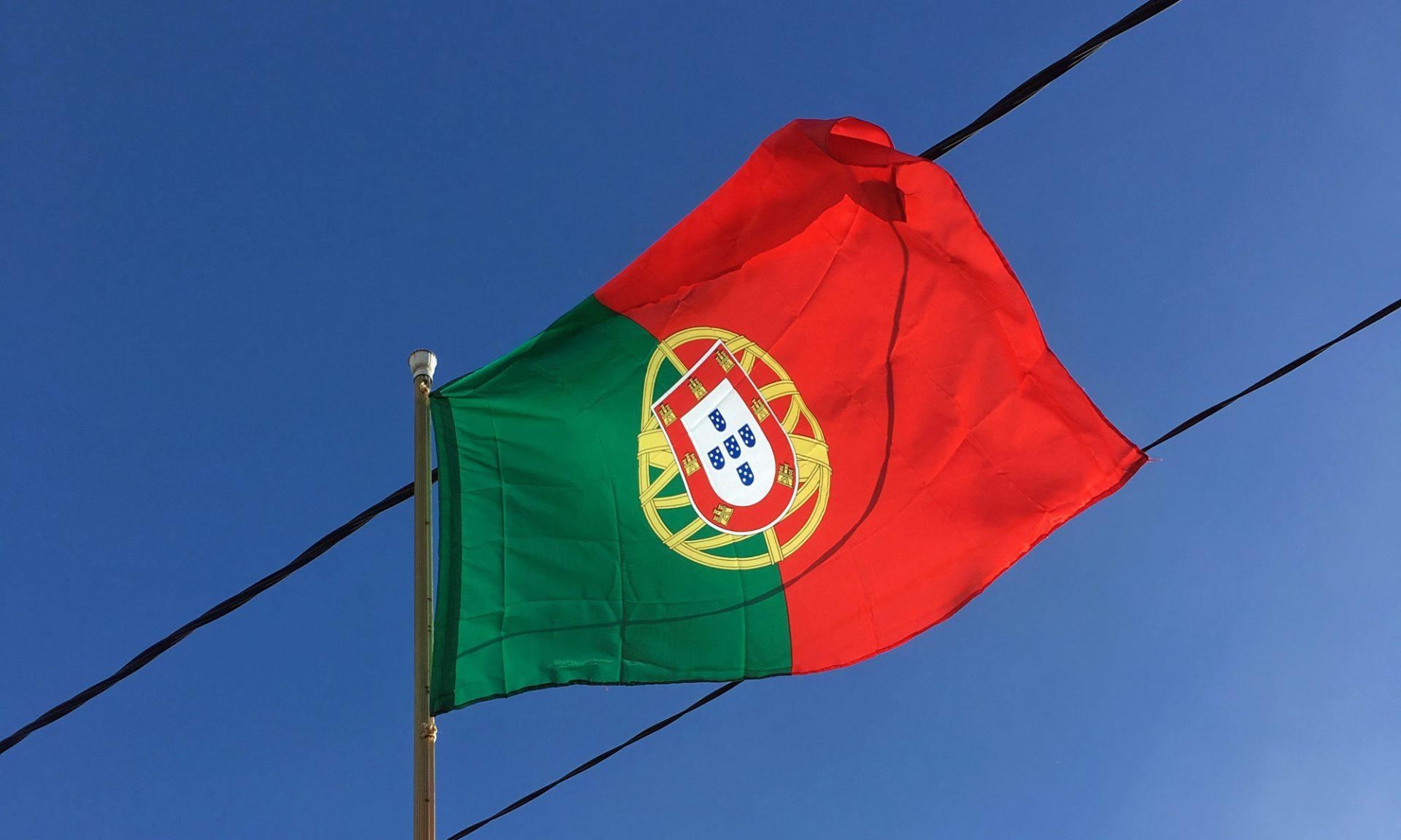 Portugal-Flagge auf Madeira