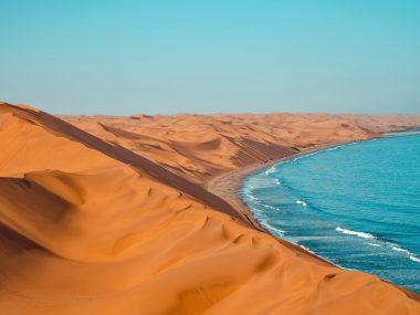 Namibwüste in Sandwich Harbour Bay